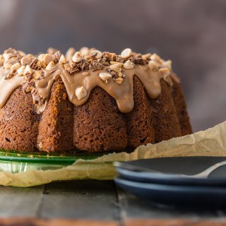 Chocolate Peanut Butter Cup Pound Cake