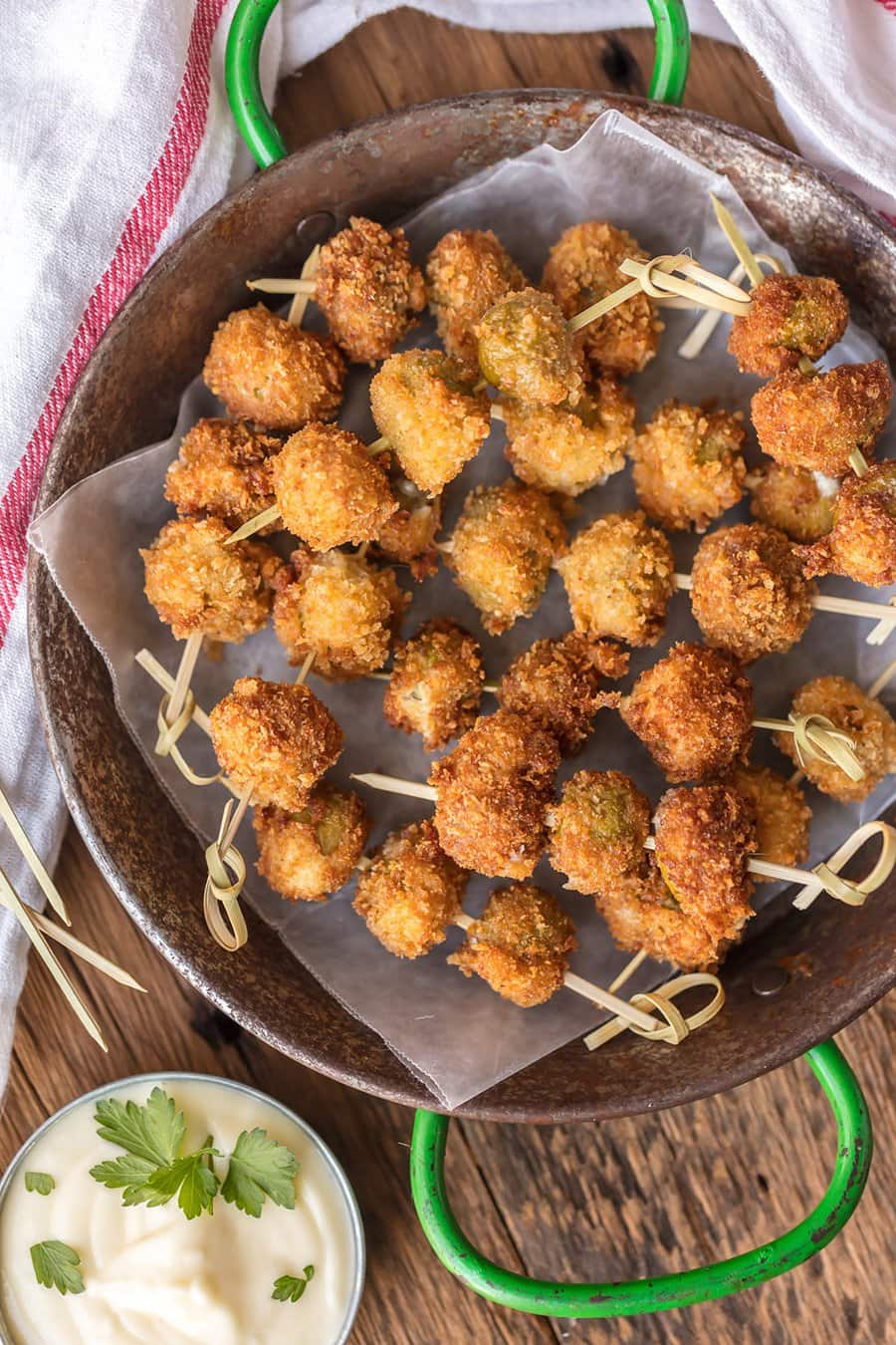 Fried Blue Cheese Stuffed Olives | The Cookie Rookie