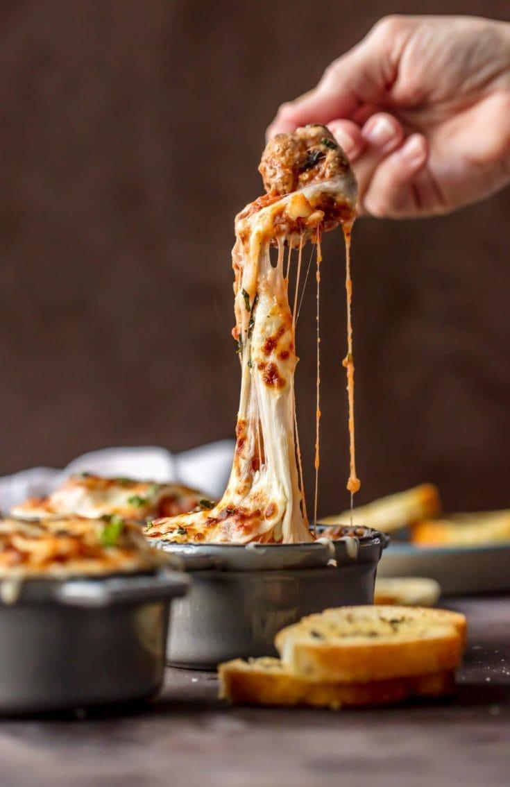 Cheesy Parmesan Meatball Soup Recipe
