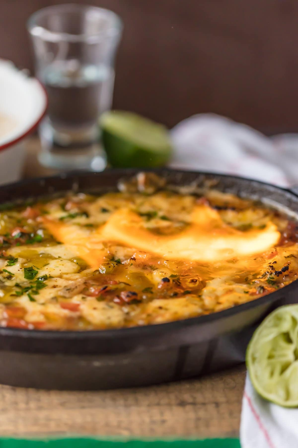 Tequila Lime Flaming Cheese Dip