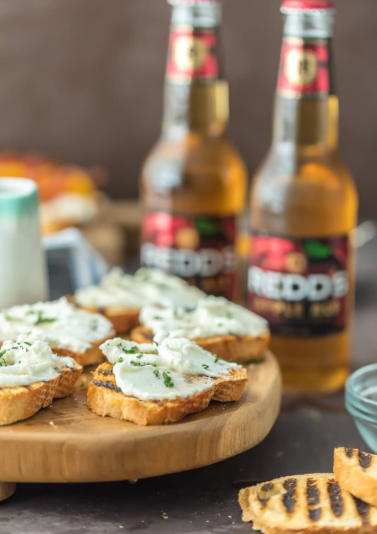 Whipped Goat Cheese Appetizers paired with Apple Ale