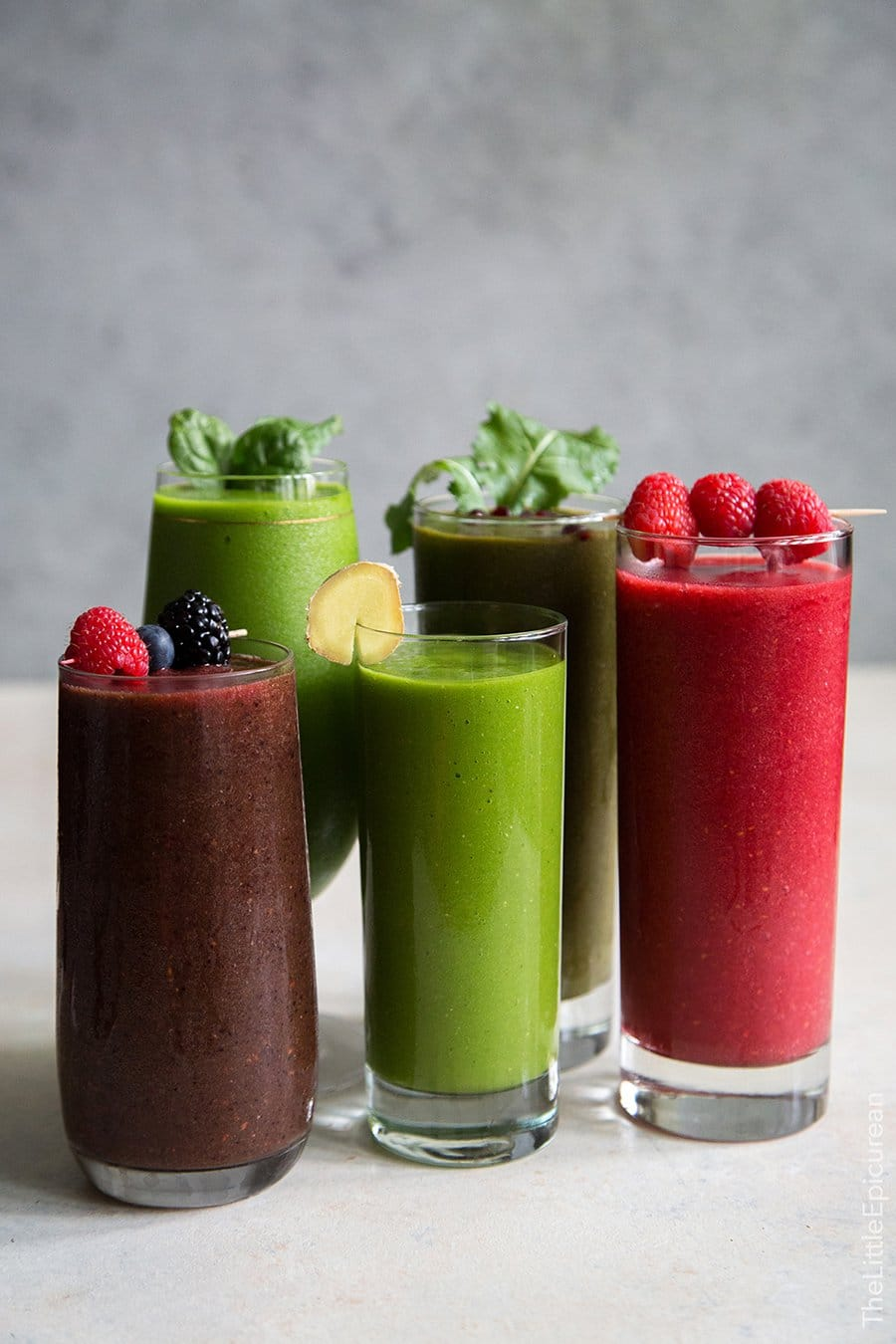 5 Fruit and Veggie Smoothies | The Little Epicurean