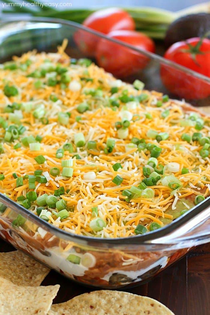 7 Layer Bean Dip | Yummy Healthy Easy