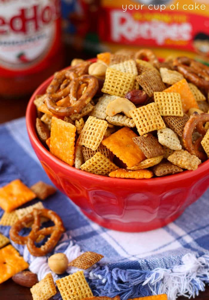 Sweet and Spicy Chex Mix | Your Cup of Cake