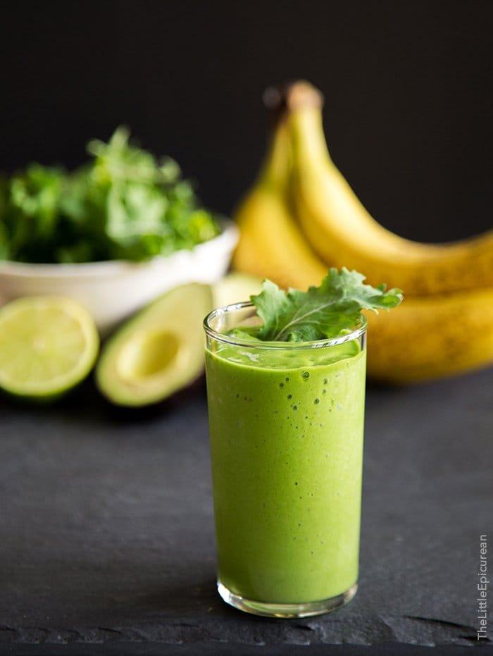 Avocado Kale Smoothie | The Little Epicurean