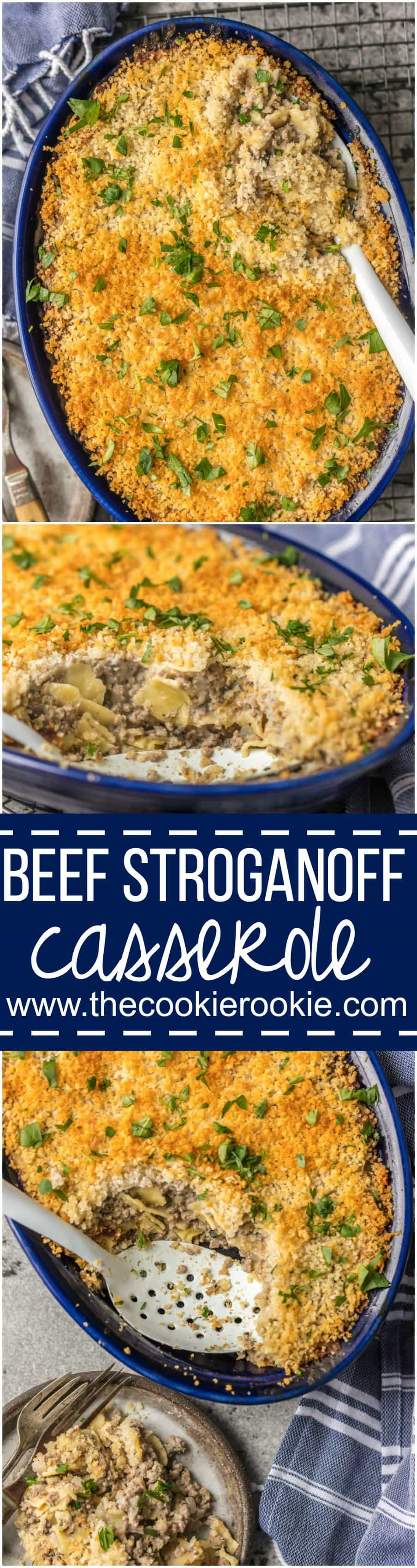 Nothing beats BEEF STROGANOFF CASSEROLE! Such an easy weeknight meal sure to please kids and adults alike! An easy way to make a classic recipe, so yum!
