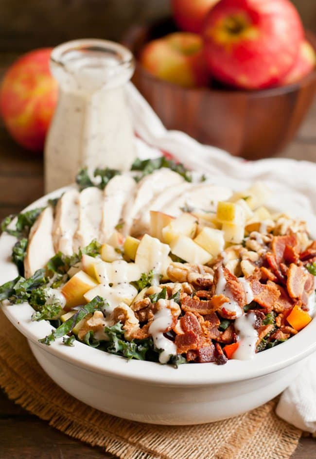 Chicken Apple Bacon Kale Salad | Neighbor Food