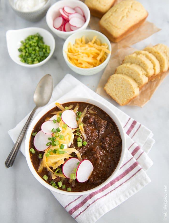 Chipotle Steak Chili | The Little Epicurean