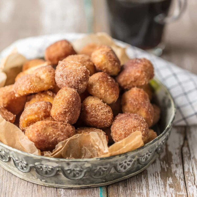 CINNAMON BITES are the perfect breakfast, dessert, or snack for any time of day! These crispy Cinnamon Sugar Biscuit Bites are easy, delicious, and so fun.