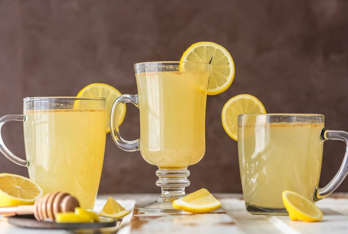 Homemade master cleanse recipe in three clear glasses
