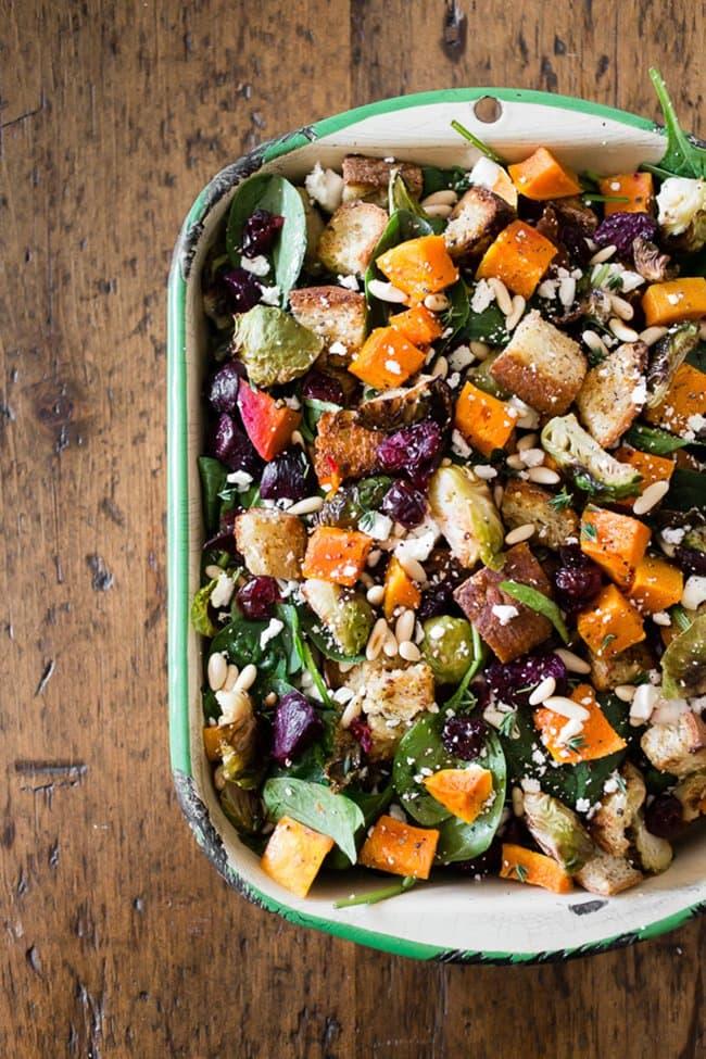Fall Panzanella Salad | Nutmeg Nanny
