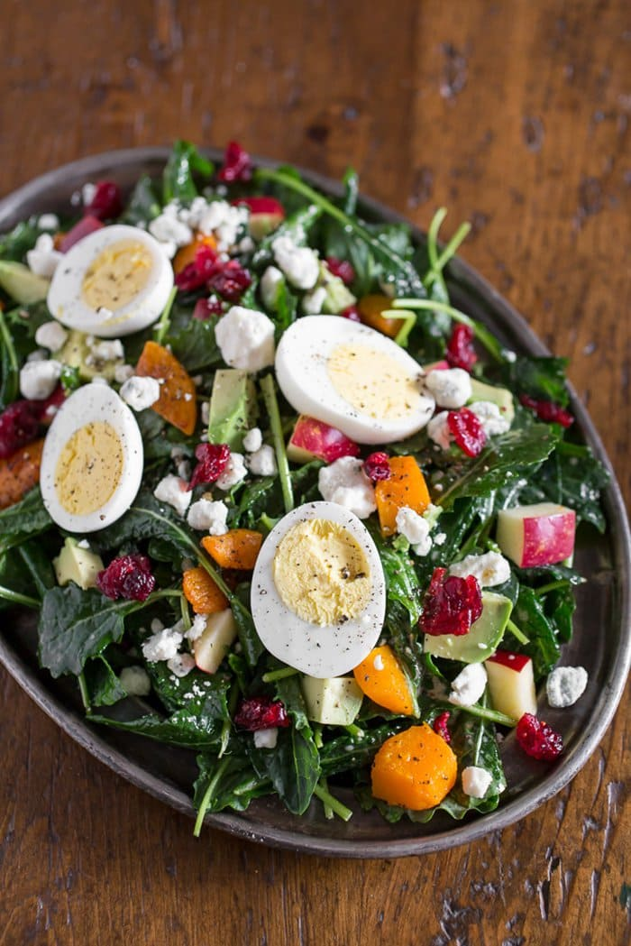 Epic Winter Salad with Roasted Butternut Squash, Kale, and Avocado | Kitchen Treaty