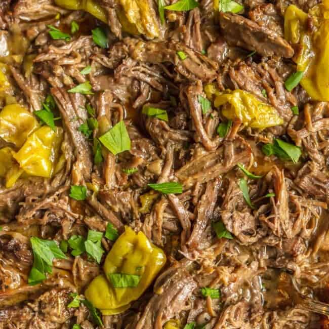 MISSISSIPPI ROAST is the absolute best slow cooker roast beef you will EVER make! This Mississippi Roast Recipe has been made famous throughout the years and is a must make! Mississippi Roast in a crock pot is perfect on its own, for tacos, nachos, sliders, and more! You won't believe the flavor in this slow cooker goodness.