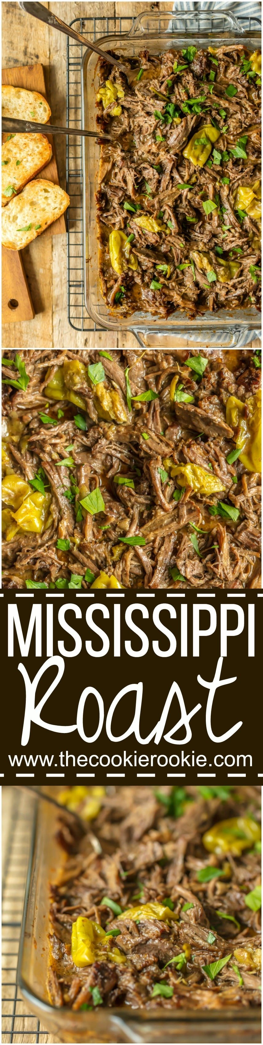 This MISSISSIPPI ROAST is the absolute best slow cooker roast beef you will EVER make! Made famous throughout the years, you just have to try this! Perfect crockpot roast beef for sandwiches, tacos, and beyond!