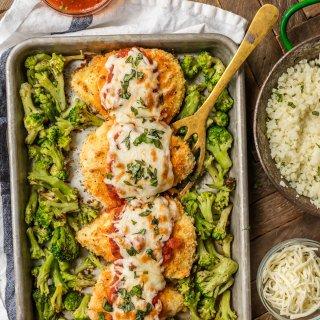 Sheet Pan Chicken Parmesan