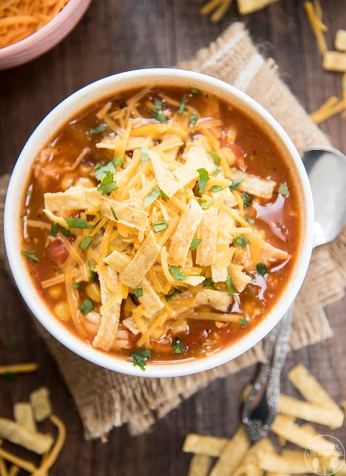 Slow Cooker Chicken Enchilada Soup | Like Mother, Like Daughter