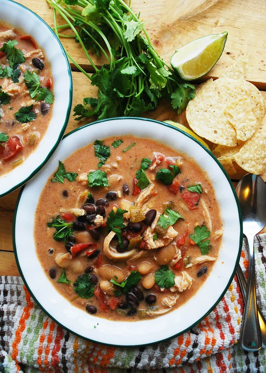 Slow Cooker Green Chile Enchilada Soup | Allergy Awesomeness