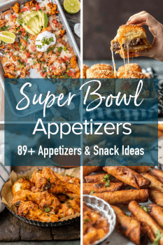 Super Bowl Appetizers are the real winner on the big game day. No party would be complete without the best Super Bowl Appetizers and the Best Super Bowl Snacks. From dips to wings to sliders and more, all the best Super Bowl food ideas are right here!