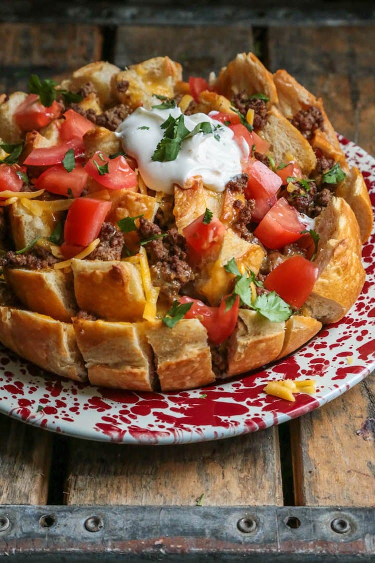 Taco Pull Apart Bread | Country Cleaver