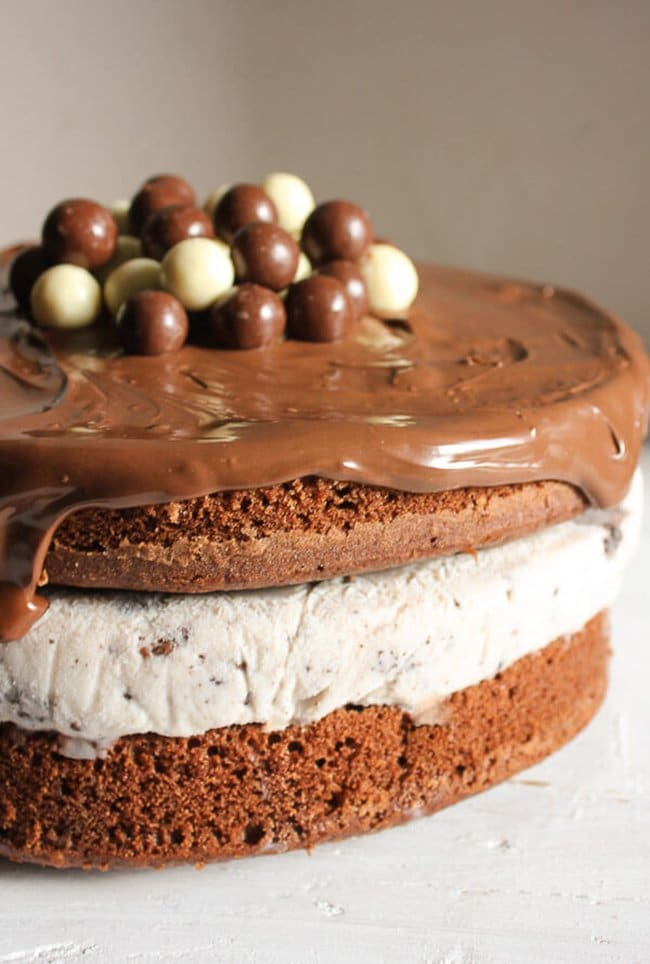Nutella Kit Kat Oreo Ice Cream Cake | An Italian in my Kitchen
