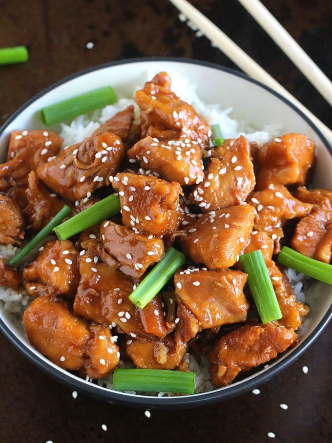 Instant Pot Mongolian Chicken | Peas and Peonies
