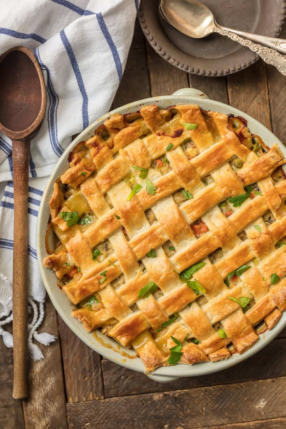 Chicken Pot Pie Casserole is such an easy way to make Chicken Pot Pie. This crazy good Recipe for Chicken Pot Pie is the ultimate easy comfort food! This AMAZING Chicken Pot Pie Recipe is loaded with carrots, peas, chicken, and topped with flakey pie crust. OBSESSED is an understatement!