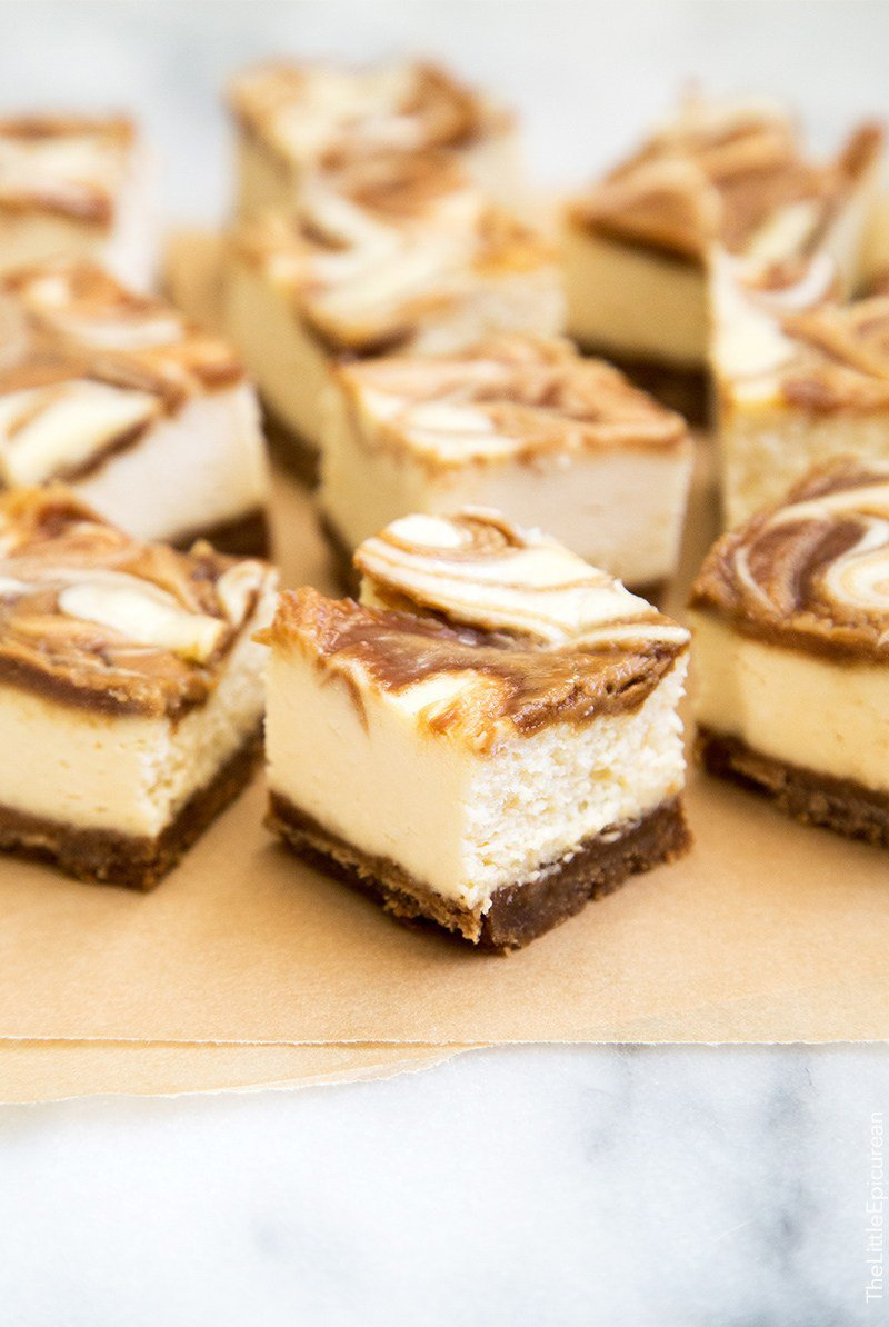 Cookie Butter Cheesecake Bites | The Little Epicurean