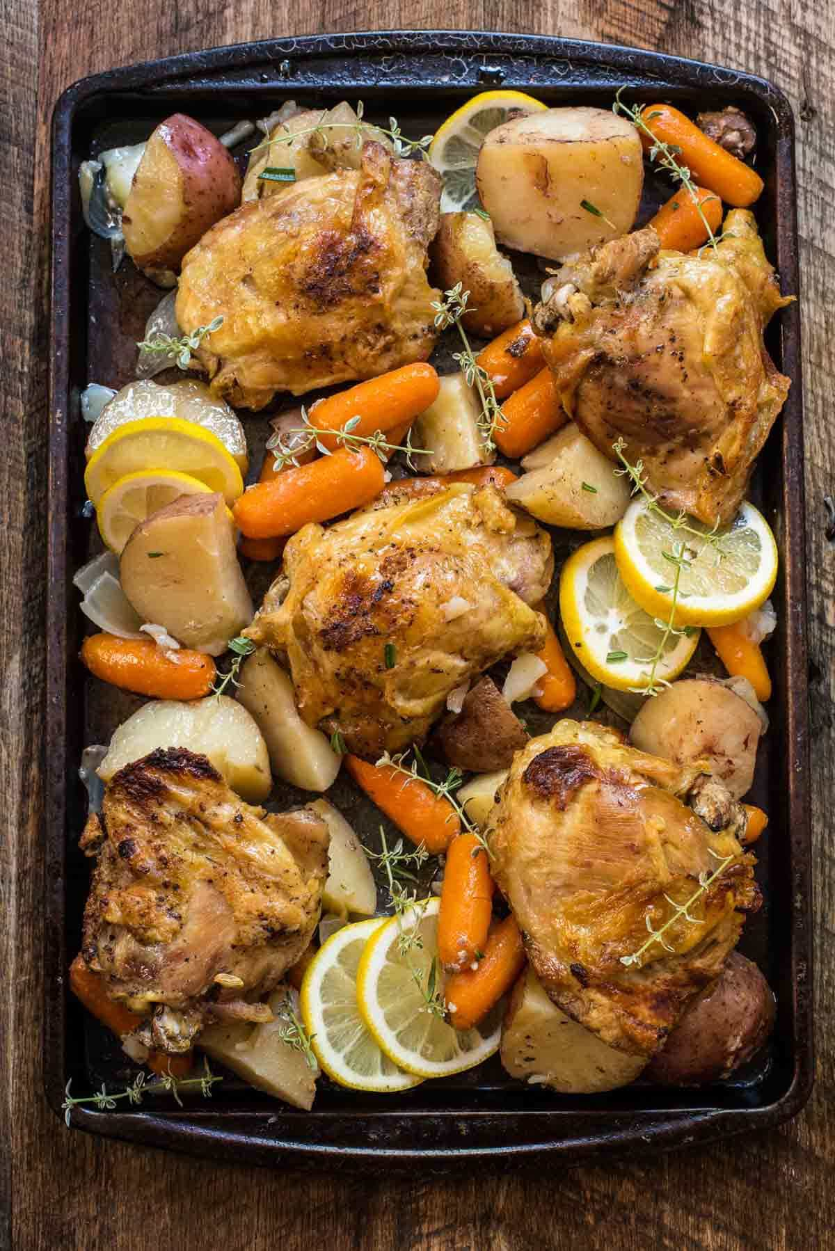 Crock Pot Lemon Garlic Chicken | Neighbor Food