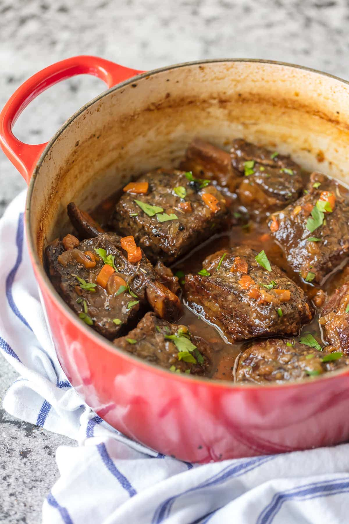 Making short ribs in dutch oven