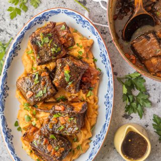 Dutch Oven Honey Bourbon Short Ribs