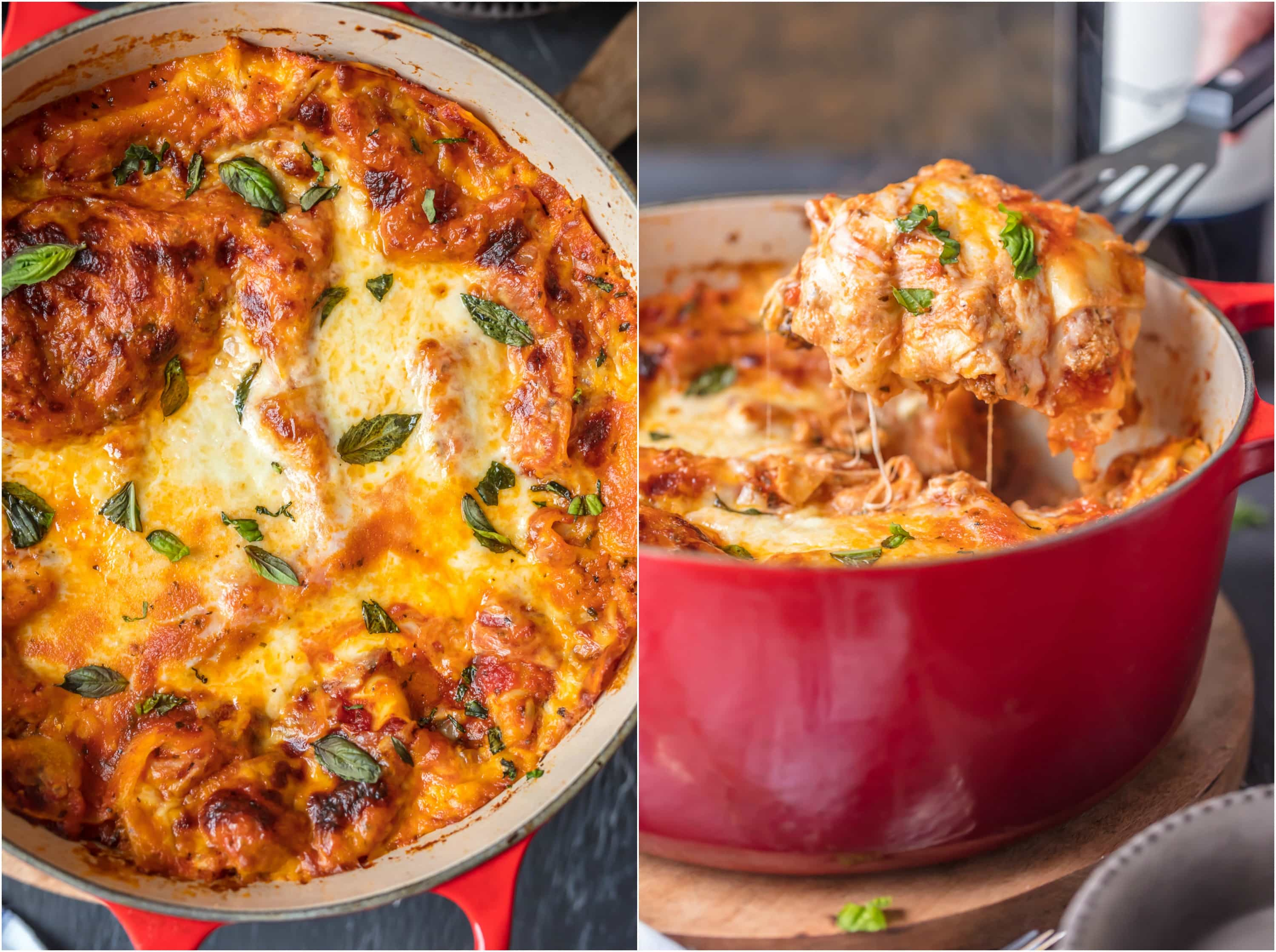 This DUTCH OVEN LASAGNA will blow your mind! You'll never make traditional lasagna again after making this easy stove-top version. We are addicted to this recipe!