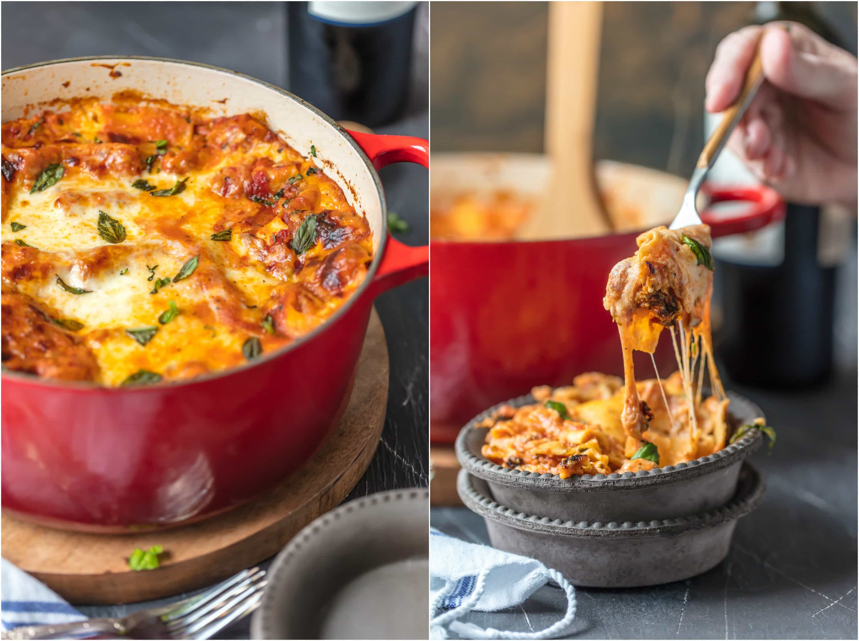 Dutch Oven Lasagna, or Stove Top Lasagna, will blow your mind! You'll never make a fully traditional lasagna recipe again after making this easy stove-top version. We are addicted to this melty, cheesy, and SIMPLE Italian recipe! This One Pot Lasagna is one of the BEST Dutch Oven Recipes we have tried.