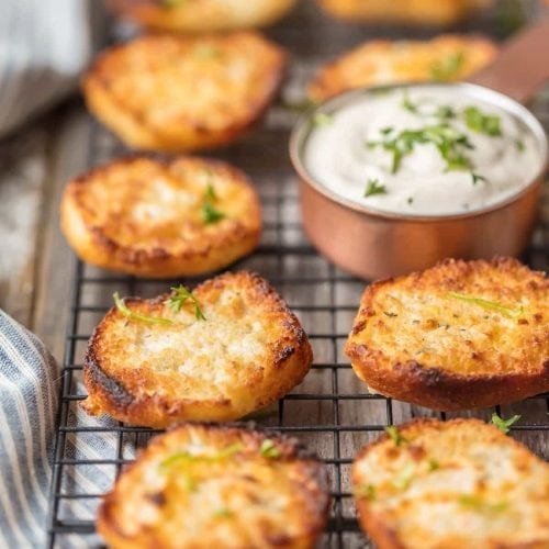 ranch dip biscuits on a wire cooling rack