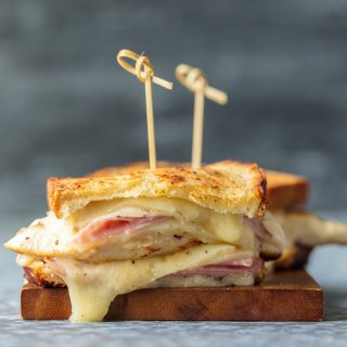 Grilled Chicken Cordon Bleu Sandwich