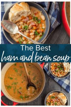 This is the BEST Ham and Bean Soup recipe! There's no better comfort food than an easy and classic soup, and this definitely makes the cut.