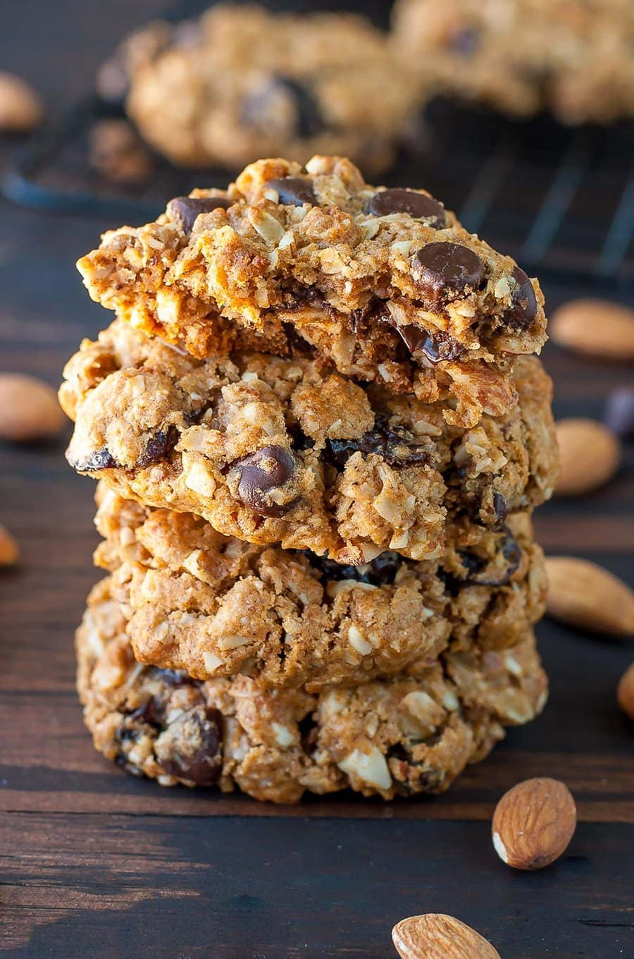 Gluten-Free Chocolate Cherry Oat Cookies | Peas and Crayons