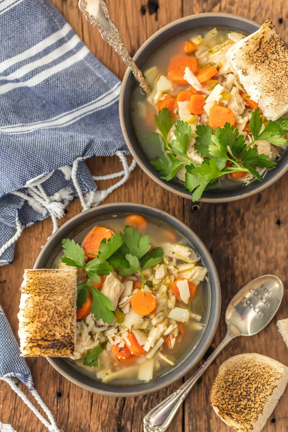 Homemade Chicken Noodle Soup | The Cookie Rookie