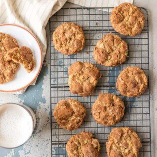 Oatmeal Chocolate Chip Crinkles (Oatmeal Doozie Cookies)