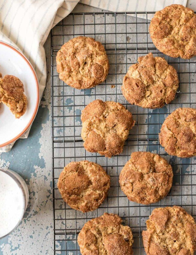 """The BEST OATMEAL CHOCOLATE CHIP COOKIES recipe is crunchy on the outside and chewy on the inside. We call them """"Oatmeal Doozies"""" because they are my Mom's master creation!"""