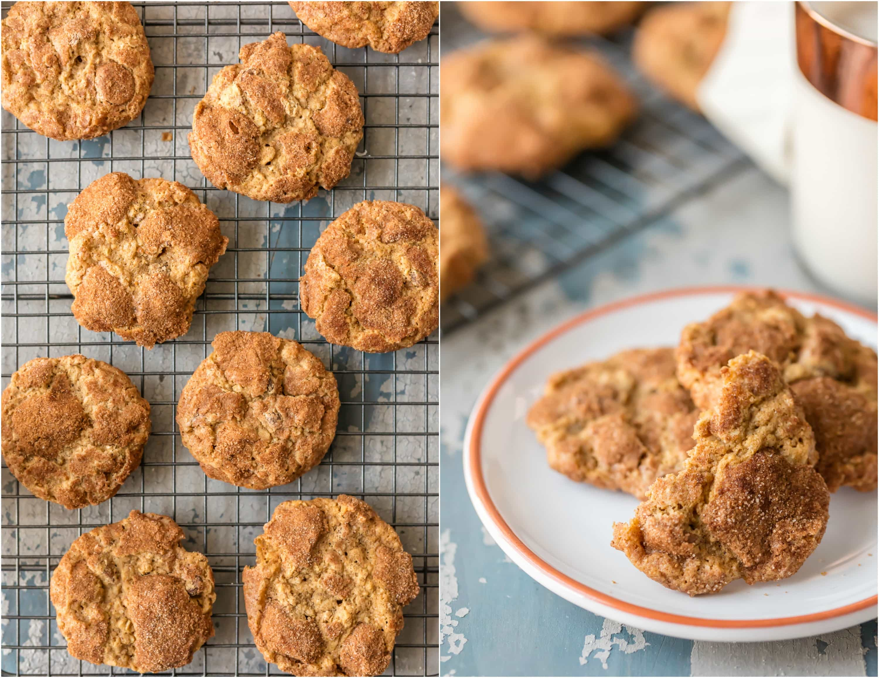 """We call these OATMEAL CHOCOLATE CHIP CRINKLES """"Oatmeal Doozies"""" because they are my Mom's master creation! The perfect crispy outside and chewy inside, the ultimate Oatmeal Chocolate Chip Cookie!"""
