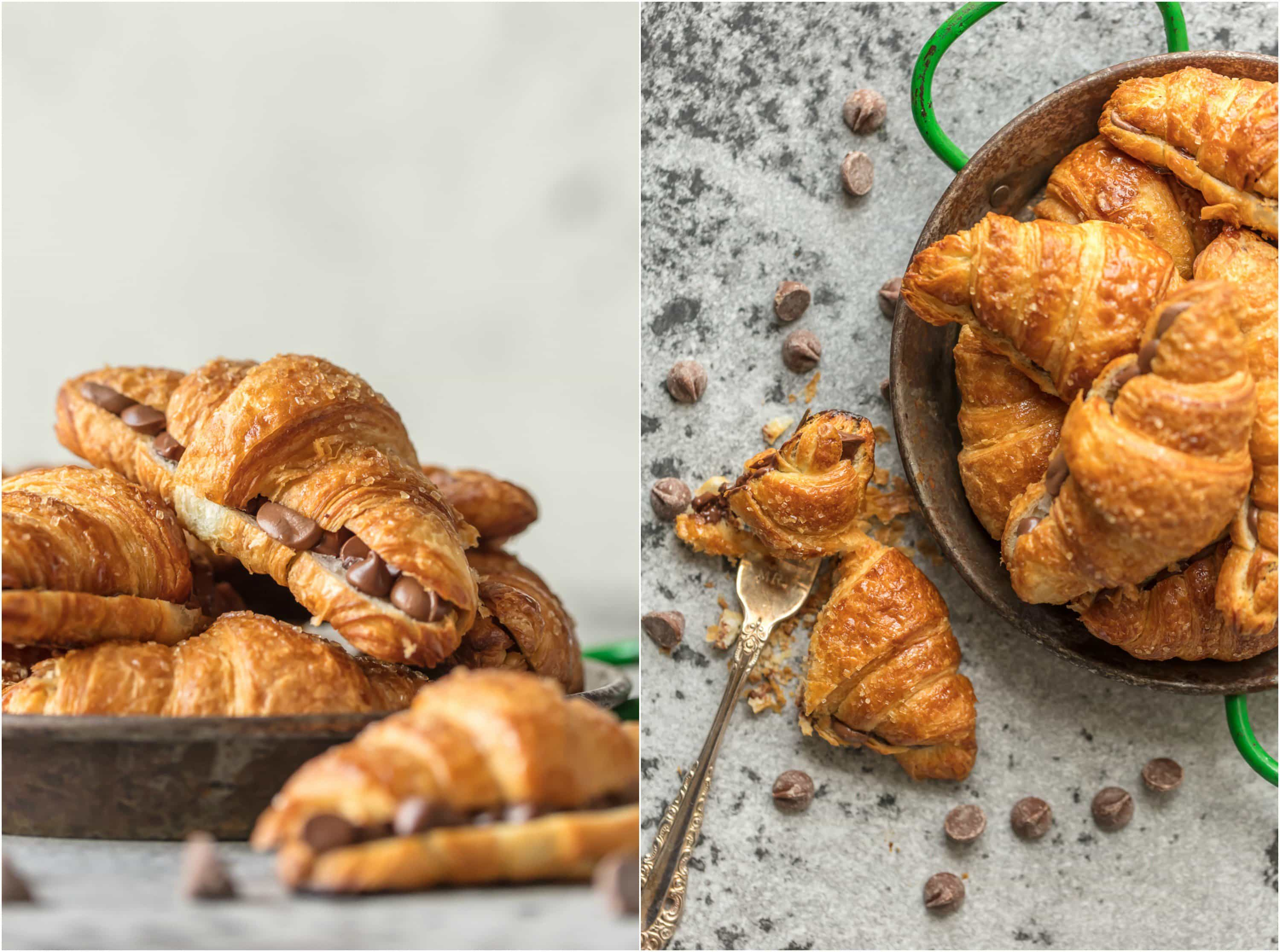 Sheet Pan Chocolate Croissant Recipe - The Cookie Rookie