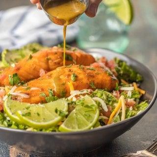 Tequila Lime Salmon Salad