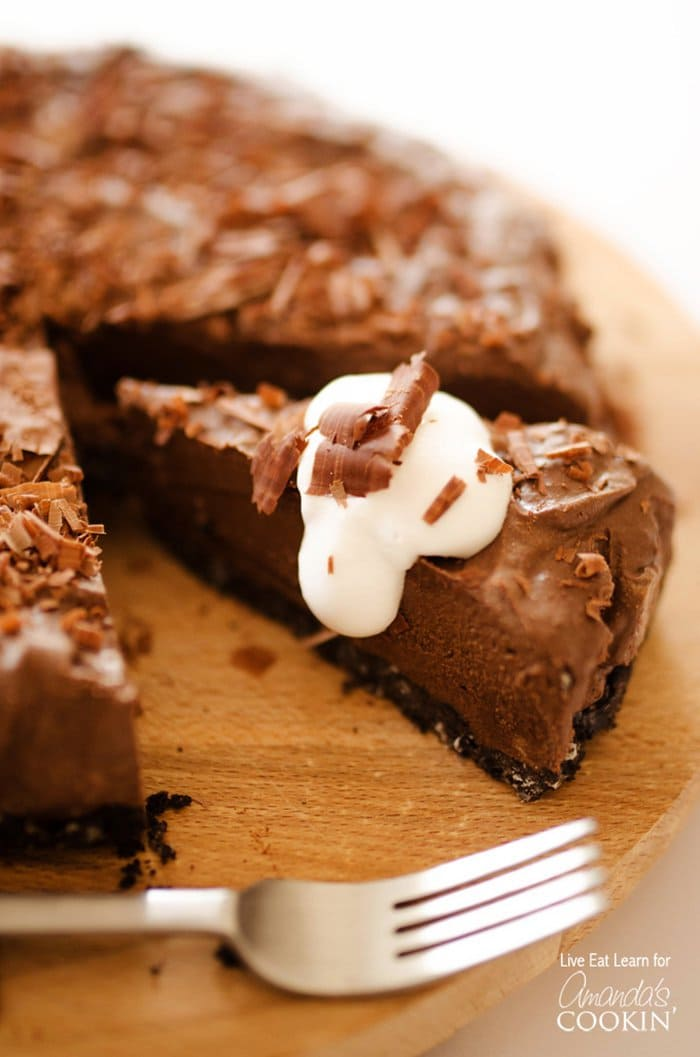 Avocado Chocolate Mousse Cake | Amanda's Cookin'