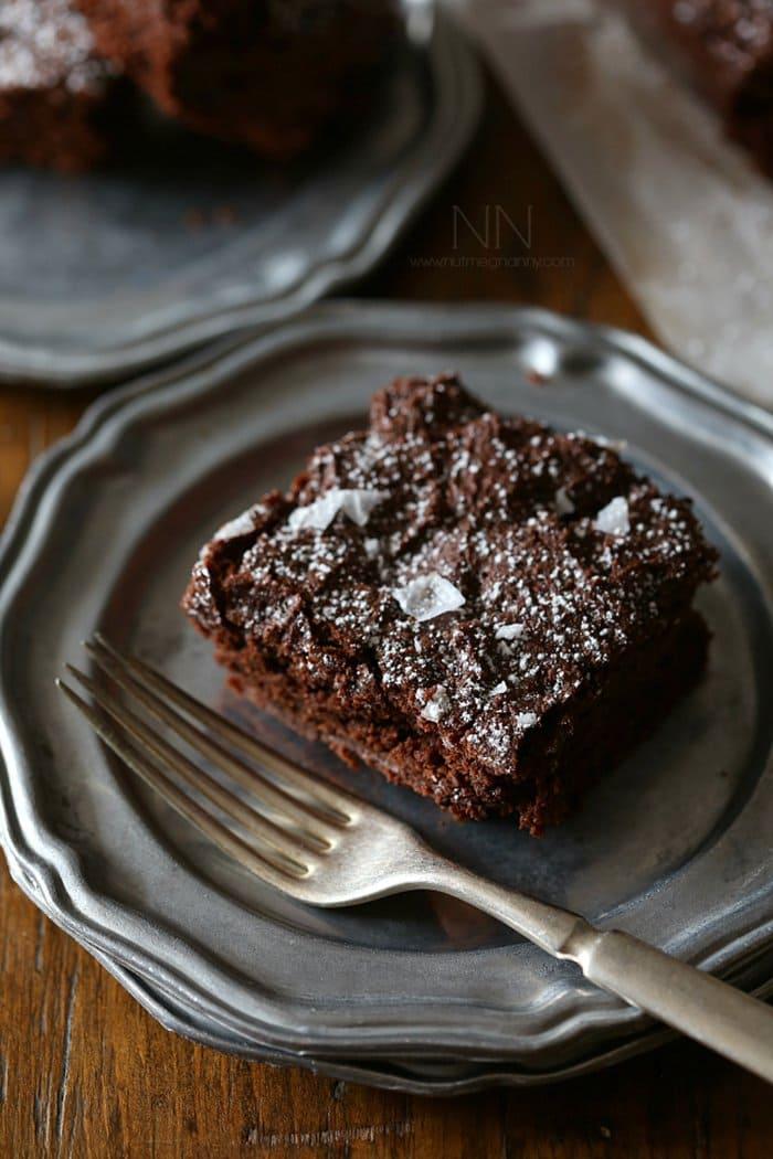 Yogurt Dark Chocolate Brownies | Nutmeg Nanny