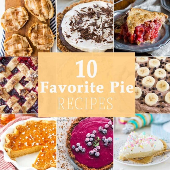 10 FAVORITE PIE RECIPES FOR PI DAY! 10 fun and easy pie recipes perfect for year round, but especially the best holiday ever, Pi Day!