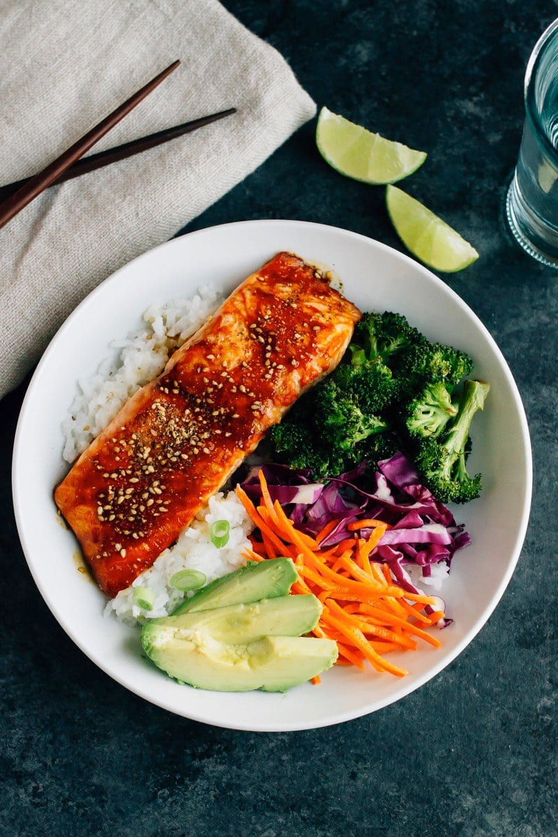 Teriyaki Salmon Bowls | Eating Bird Food