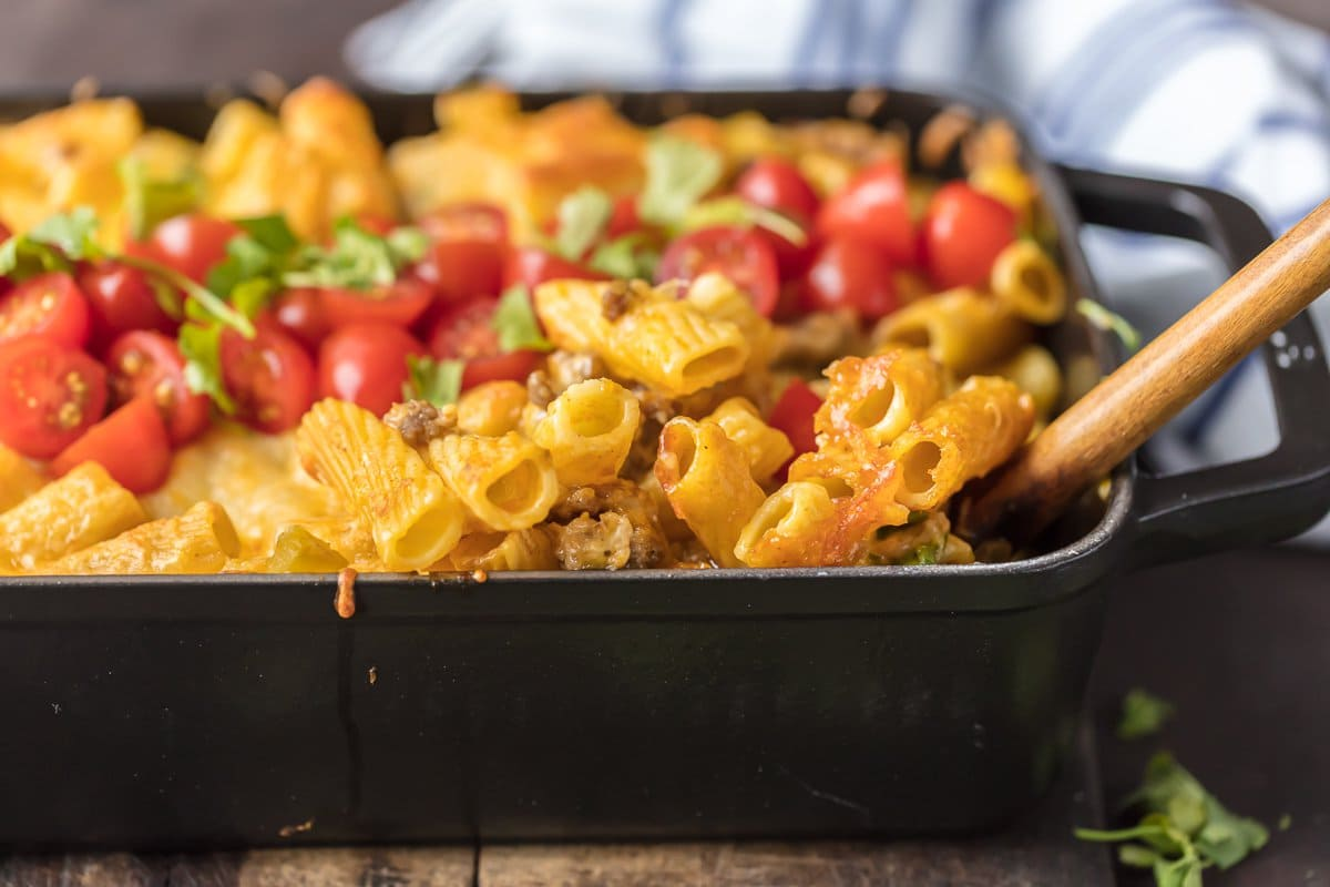 easy mac and cheese bake in a casserole dish