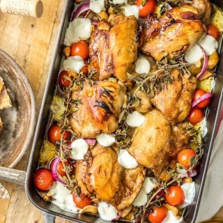 Balsamic Glazed Mediterranean Chicken Bake | The Cookie Rookie