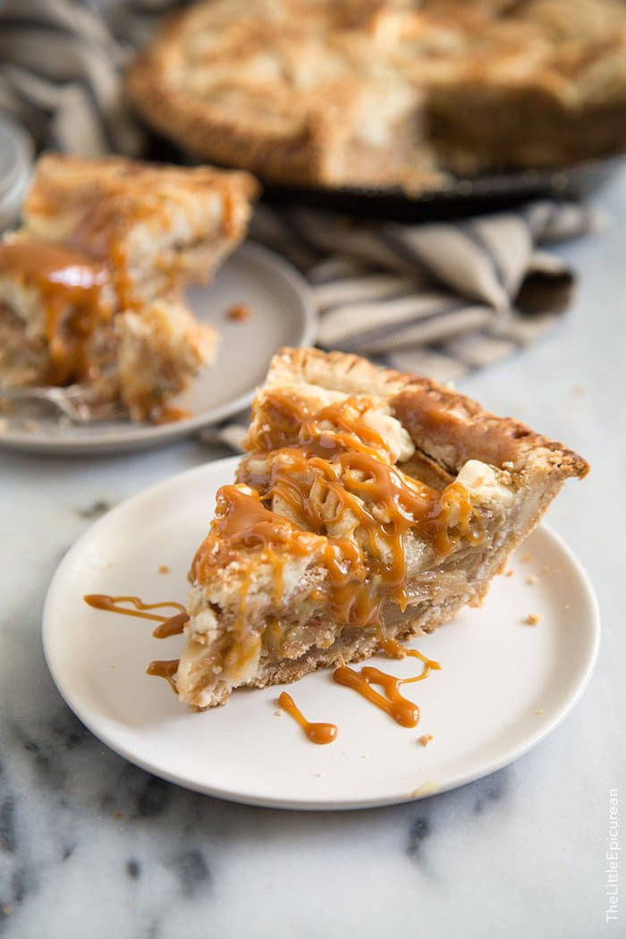 Salted Caramel Apple Pie | The Little Epicurean