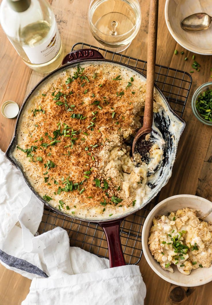Large Batch Skillet White Cheddar Mac and Cheese | The Cookie Rookie
